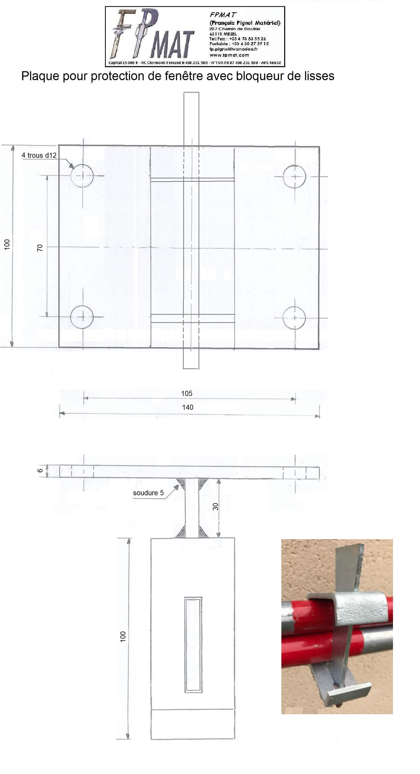 Plaque-pour-protection-fenêtre-avec-bloqueur-de-lisse-fpmat