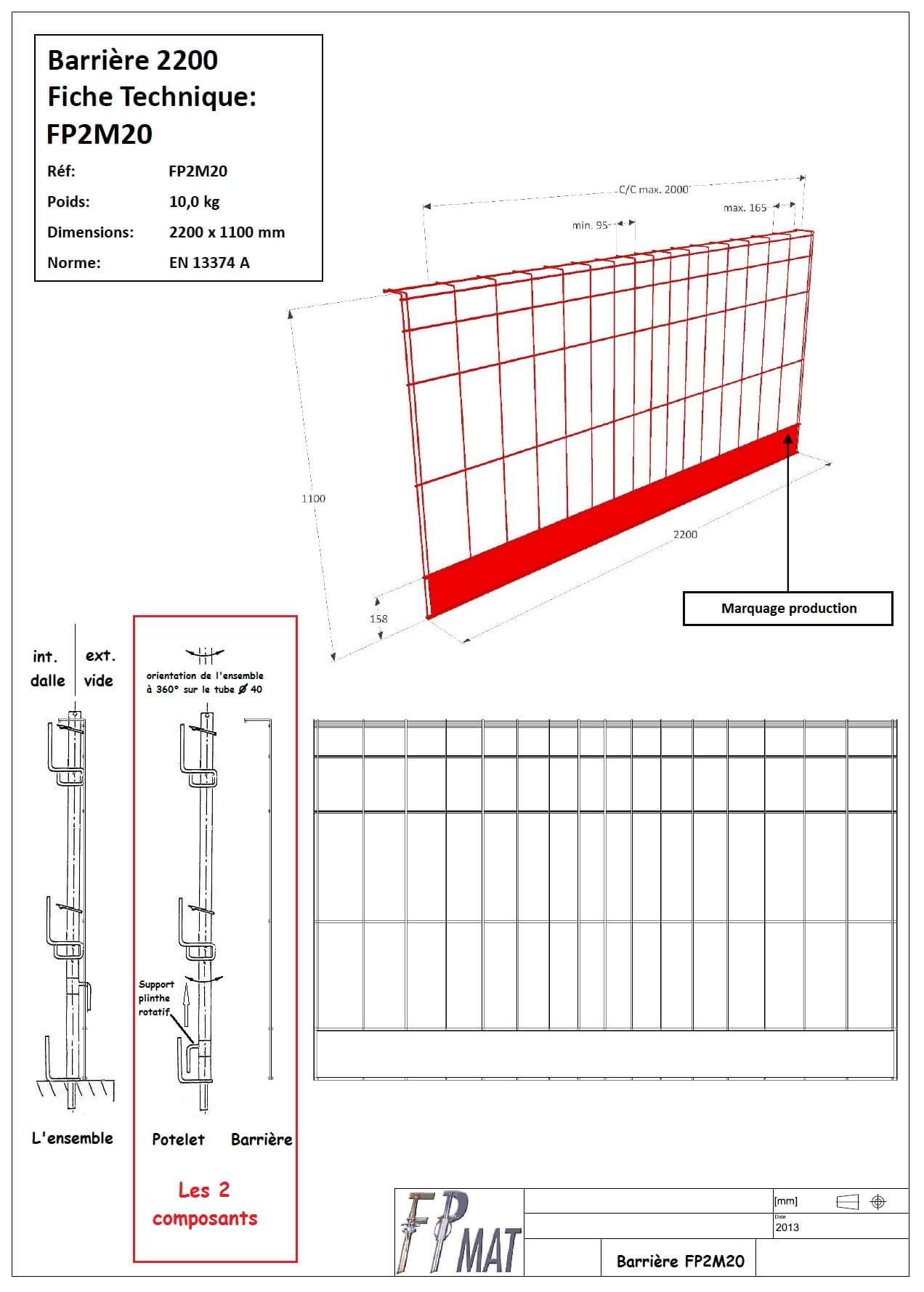 fiche-technique-barriere-fp2m20-fpmat
