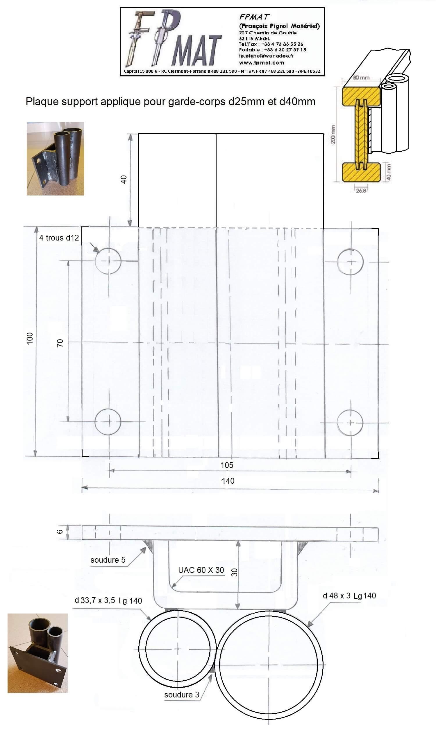 plan-Plaque-support-applique-garde-corps-a-reservation-25mm-et-40mm-fpmat